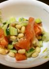 大豆と胡瓜とトマトのサラダ