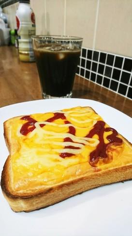 簡単!子供も喜ぶ朝食☆チーズトースト☆