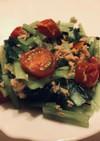 ミニトマトと小松菜のツナドレサラダ
