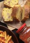 ズッキーニとベーコンのケークサレ