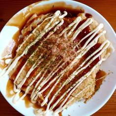 大豆粉の低糖質お好み焼き