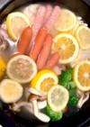 うちの塩レモン鍋+シメはパスタが美味い♫