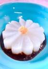 飾り切りの菊の花で!レンチン風呂吹き大根