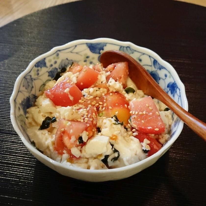 ★スプーンで食べる★トマトと豆腐のサラダ