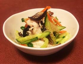 夏野菜とキクラゲの麹ナムル