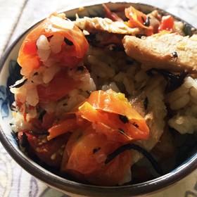 ミニトマト大量消費 ピラフ風炊き込みご飯