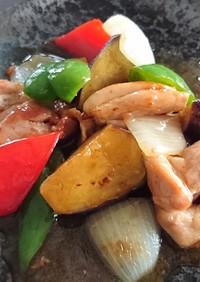 鶏肉と野菜の黒酢あん