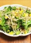 ブロッコリーと夏野菜の和風和え物