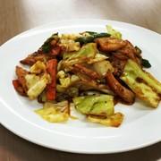 サラダチキンで回鍋肉の写真