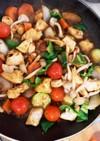 胸肉ミニトマトたっぷりトマト塩ダレ炒め煮