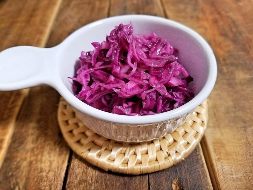紫キャベツのラペ*りんご酢使用