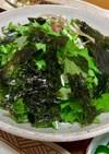 水菜とみょうがの韓国風サラダ