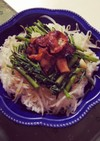 空芯菜で野菜たっぶりスタミナ豚丼