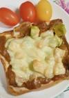 アボカドのチーズカレートースト