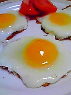 冷凍卵の目玉焼き