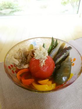 夏野菜で大人の揚げびたし♪
