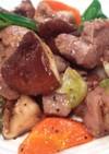 プチ豚テキと一口野菜のガーリック焼肉
