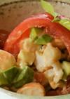 奈良県産トマトで包んだ魚介のファルス