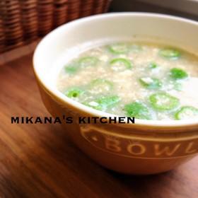オクラ☆山芋☆豆腐のトロトロ味噌汁♪♪