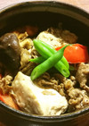 冷凍豆腐、トマト、牛肉の煮物