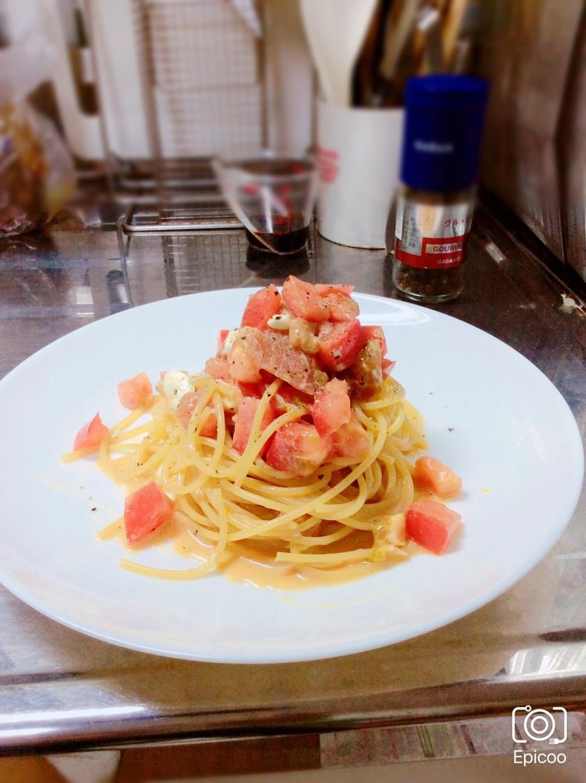 トマトと生ハムの冷製パスタ 簡単