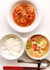 レタスとトマトのたまごスープ