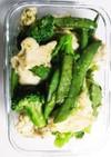 鶏むね肉と緑野菜のバジルソース炒め