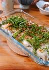 鶏肉とチーズと大葉のパン粉焼き