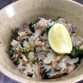鯖と三つ葉の混ぜご飯