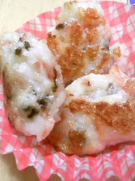 お弁当に❤はんぺん焼(桜エビ&塩昆布)