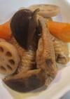 手羽先と根菜の煮もの(圧力鍋】