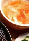 すぐできる!トマトとレタスのかき玉スープ