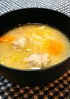 鶏団子入りno味噌汁