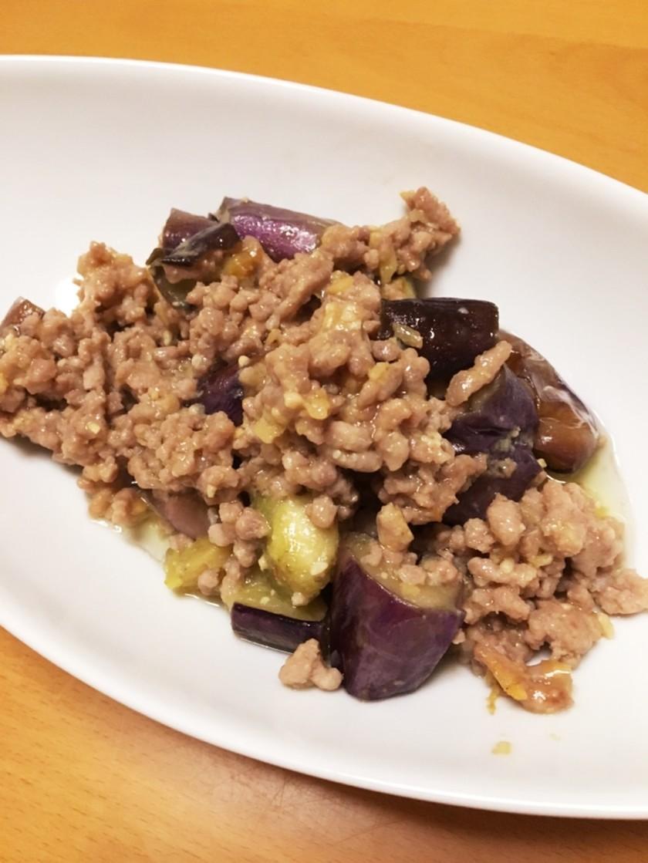 茄子と豚ひき肉の生姜味噌炒め