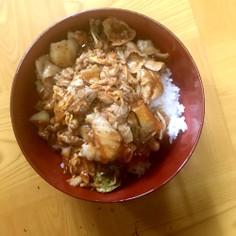 簡単豚キムチ丼焼肉のたれ付き