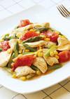 鶏むね肉と野菜のとろみ煮