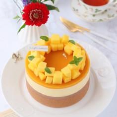チョコっとマンゴームースケーキ♡