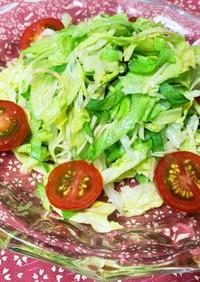 簡単 早い!レタスと西洋ワサビのサラダ