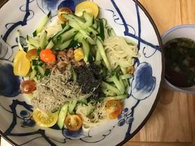 納豆で中華そば風つけ麺