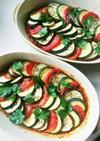 挽き肉と3色野菜の彩りグリル