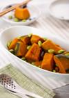 かぼちゃと枝豆の蒸し煮