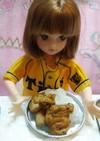 リカちゃんサイズ♡野球シリꕤヤク鶏カレー