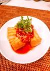 厚揚げ豆腐とキムチで簡単一品