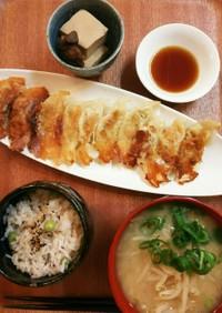 夕飯(7/19)餃子