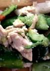 たたききゅうりと鶏むね肉のピリ辛和え