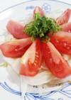 トマト玉ねぎ大葉のカルパッチョ風サラダ