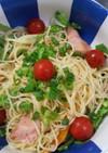 サッパリ!焼き鮭と夏野菜の冷製パスタ