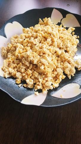 簡単!豆腐の炒りたまご(⌒‐⌒)