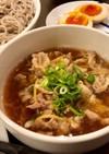 豚バラ肉とたっぷり生姜のつけ蕎麦