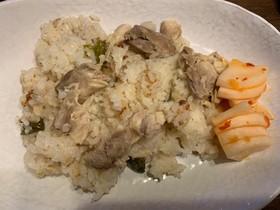 炊飯器でシンガポールチキン風鶏飯